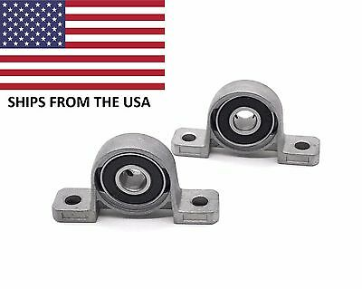2PCS Self Align 8mm Bore Inner Ball Mounted Pillow Block Insert Bearing KP08