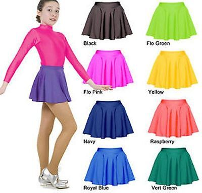 Girls Nylon Lycra Circular Dance/Ballet/Tap/Disco Skirt All Colours And Sizes