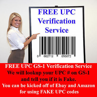 FREE UPC EAN GS1 Barcode Verification Service - Learn if your codes are fake