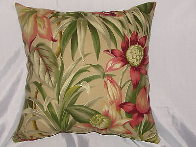"""1 DECORATIVE THROW PILLOW  CUSHION COVER 17/"""" FLORAL INDOOR OUTDOOR"""