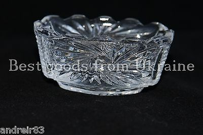 Vintage crystal Saucer for jam USSR СССР Soviet period Russian 7x4 cm PD29