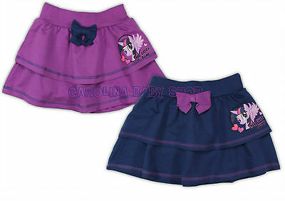 New official Hasbro My Little Pony girls short skirt  purple navy, 2 3 4 5 6 7 y