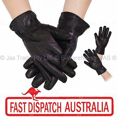 Ladies Women Winter Driving Outdoor Cold Weather Gloves Glove Lamb Skin Leather