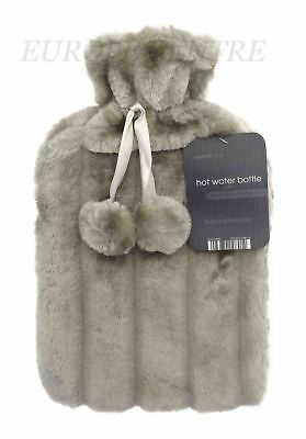 Large 2L Hot Water Bottle Fabulous Quality & With Removable Cover in Multicolour