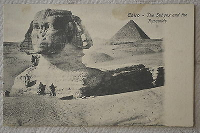 "CPA "" CAIRO - The Sphynx and the Pyramids"