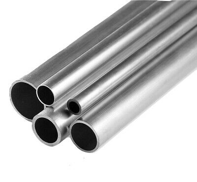 Aluminium Round Tube Pipe 8mm 12mm 20mm 25mm 30mm 40mm 80mm NEXT DAY DELIVERY