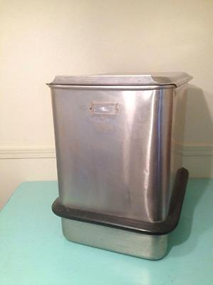Seco Piper 150 Lb Stainless Steel Mobile Bakery Flour Ingredient Bin 47-150 SS