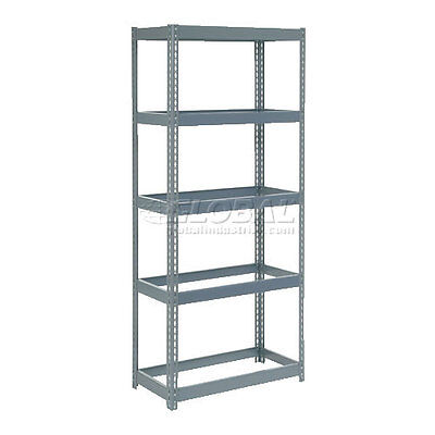 """Extra Heavy Duty Shelving 36""""W x 24""""D x 72""""H With 5 Shelves, No Deck"""