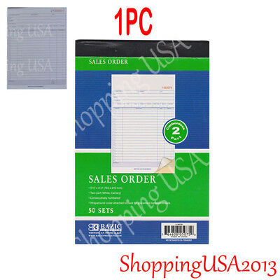 1 X Invoice Sales Order Book 50 Set Forms 2 Part Carbonless Receipt