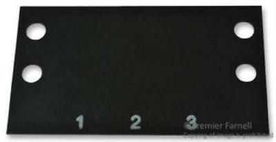 4X No.29F844 Cinch Ms-3-142 Terminal Block Marker, 1 To 3, 14.3Mm