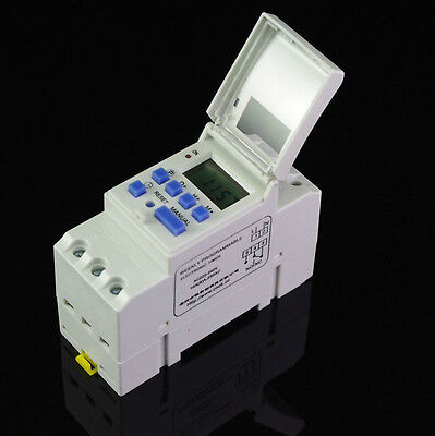 2 x  DIN RAIL DIGITAL PROGRAMMABLE WEEKLY TIMER Relay 220V 16A