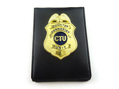 TV Series CTU Badge Special Agent Counter Terrorist Badge With Holder & Chain