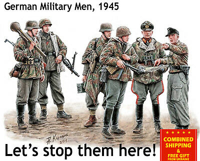 Lets Stop Them Here German Military Men 1945 1/35 Master Box 35162