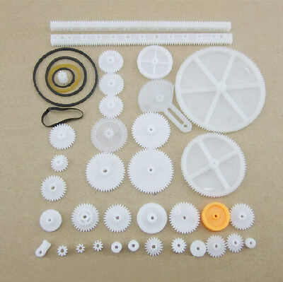 34 Kinds Plastic Shaft Rack Arriving Worm Gears Belt Pulley DIY For Robot