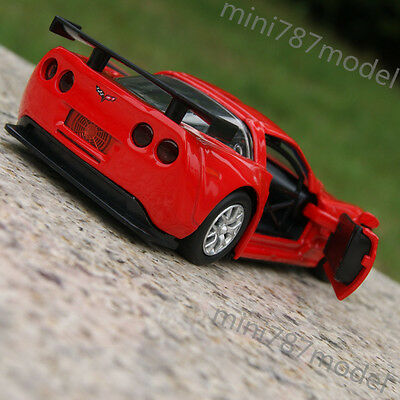"""Chevrolet Corvette CR-6 5"""" Alloy Diecast Car Model Red Toy Sound&Light New Gifts"""