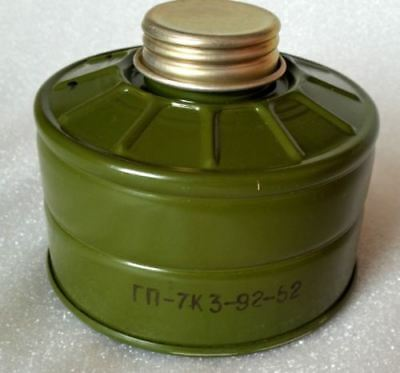 Soviet russian gas mask filter GP-7. Latest version Fits for many soviet masks.