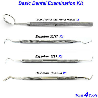 Dental Examination Tools Hygienist Scalers Kit Heideman Probes 23/17 Explorer CE