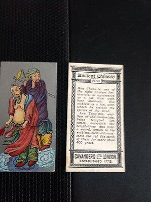 Cigarette Card Ancient Chinese Cavanders 1926 No 3