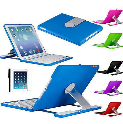 360 Stand Rotating Smart Cover & Bluetooth Keyboard Folio Case For iPad Air 2 UK
