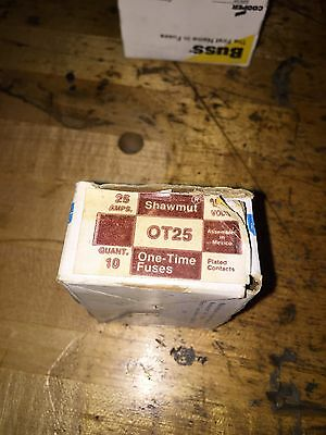Ferraz Shawmut OT25 Fuse Lot Of 3 New!