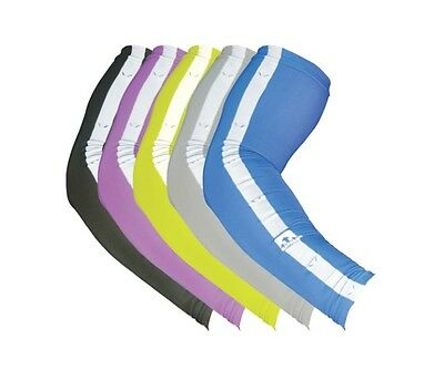 Running High Visibility NATHAN Compression Reflective Sleeves Support S/M/L