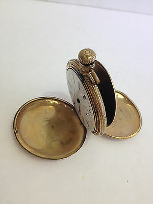 16 Size  Vintage  Waltham   Hunting Case   Pocket Watch   Parts Or Repair