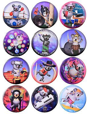 Pack-12 Funny Koala Magnets Collection #7 by Valxart
