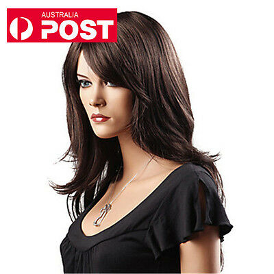 DIY WIG Fashion New Brown Long Curly Wavy Cosplay Heat Resistant Full Hair Wigs