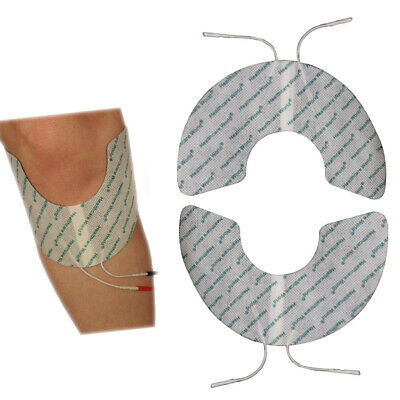 Crescent Shape Electrode Pads Self Adhesive TENS/EMS for Pain Relief Pack of Two