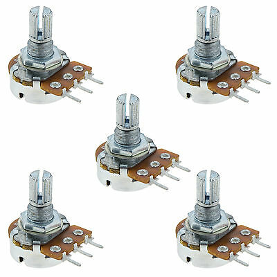 5 x 1M Log Logarithmic Splined Potentiometer Pot