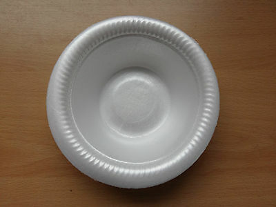 "15cm 5"" Foam Polystyrene Bowls Disposable Hot Cold Food 10 20 50 100 500 Cheap!"