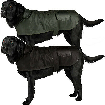 New British Wax Dog Coat Waterproof Waxed Cotton Outdoor Raincoat Small Large