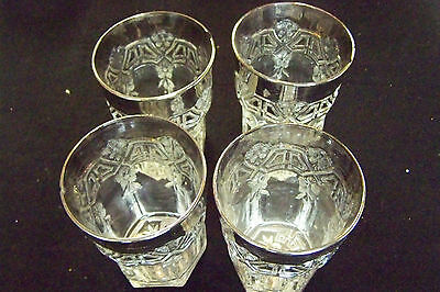 Reverse 44 Eapg 4 Glasses With Platinum Trim Pre Owned Free Shipping
