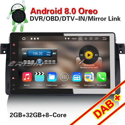 "7"" Android 5.1 Car Stereo for BMW 5 Series E39 X5 E53 M5 DAB+ 3G DVR GPS 3061-GB"