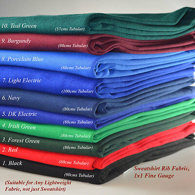 Neotrims Wholesale Stretch Sweatshirt Rib Fabric, Knit Ribbing, Waistbands Cuffs