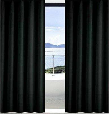 2 x Solid Black Shower Curtains 70cm New Free Shipping