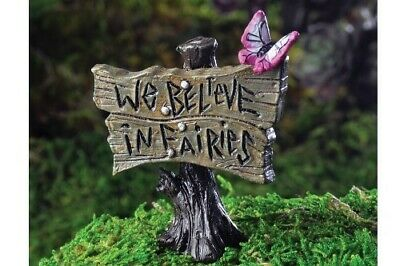 "Fairy Garden Mini - Butterfly Sign ""We Believe In Fairies"""
