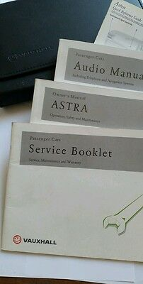 Vauxhall Astra  Owners Manual Handbook Wallet 2001 Service Book Audio Manual