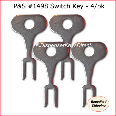 Pass & Seymour #1498 Tamper Proof Electrical Switch Key - (4/pack)