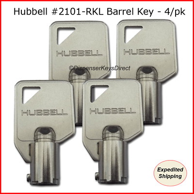 "Hubbell #2101 - Extra Heavy Duty AC ""Barrel"" Tamper Proof Switch Key - (4/pack)"