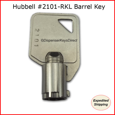 "Hubbell #2101 - Extra Heavy Duty AC ""Barrel"" Tamper Proof Switch Key - (6/pack)"