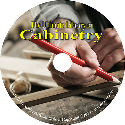 42 Books on DVD Ultimate Library on Cabinetry Cabinet Making Work Carpentry Wood