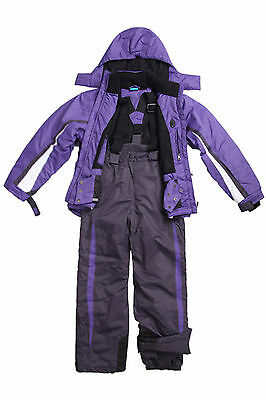 Youth Big Kids Girls Ski/Snow Suit Jacket/Pants Purple SZ 7-14 Water/Wind Proof