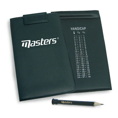 Masters Golf Scorecard Holder With Card Clip And Pencil