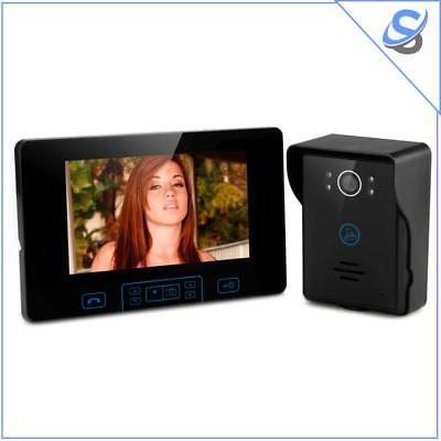 Wireless Video Door Phone 7 Inch Digital TFT Screen 2.4GHz Wireless 2 To 5 Meter