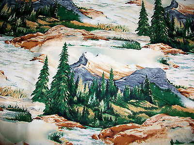 """""""LAKESIDE ANGLERS"""" MOUNTAIN STREAMS COTTON QUILT FABRIC by KAUFMAN"""