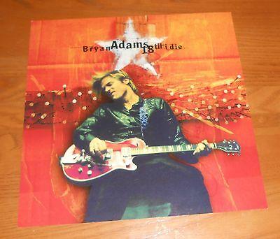 Bryan Adams 18 til I die Poster 2-Sided Flat Square 1996 Promo 12x12