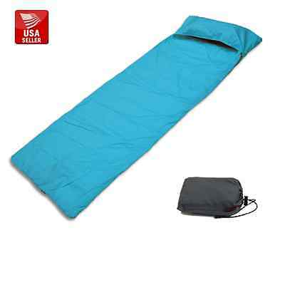 Outdoor High Quality Sleeping Bag Liner for Camping Optional Inflatable Pillow