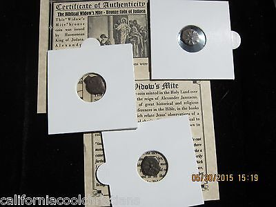 "1-Premium-  Grade ANCIENT ROMAN COIN ""WIDOW'S MITE"" LEPTON  Mini Album with COA"