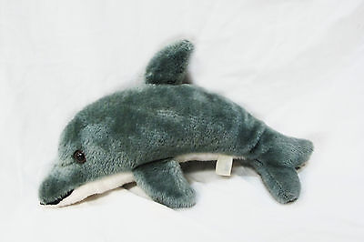 Vtg Brechner Toy Co 15 Inch Dolphin Plush Stuffed Animal Toy